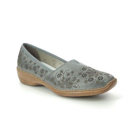 Rieker Comfort Slip On Shoes - Navy - 41336-12 DORAERO