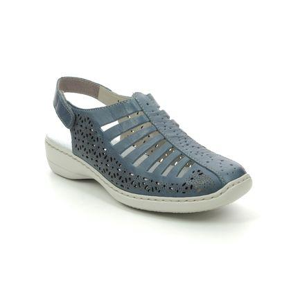 Rieker Closed Toe Sandals - Denim blue - 41355-12 DORSINA