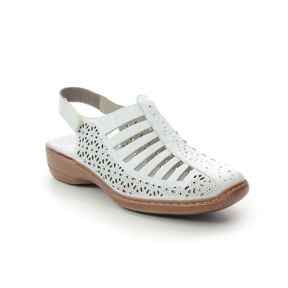 Rieker Closed Toe Sandals - White - 41355-80 DORSINA