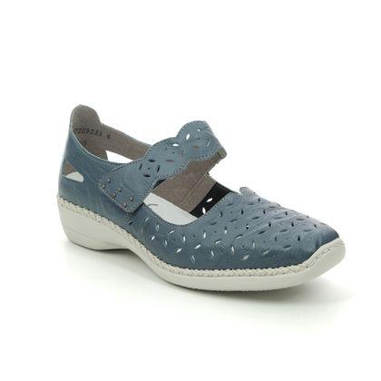 Rieker Mary Jane Shoes - Denim blue - 41377-12 DORISBARCSY
