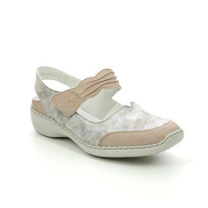 Rieker Mary Jane Shoes - Taupe multi - 41379-62 DORISBEE