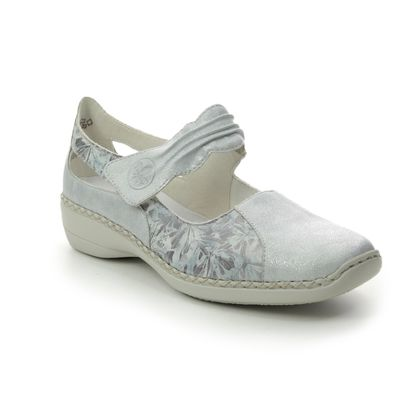 Rieker Mary Jane Shoes - Silver multi - 413G3-80 DORISBARI