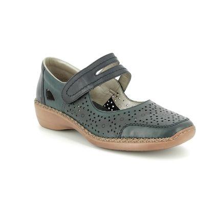 Rieker Mary Jane Shoes - Navy - 413J9-14 DORISBARS