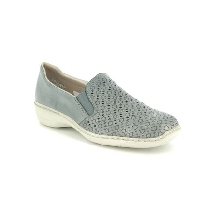 Rieker Comfort Slip On Shoes - Denim blue - 413Q6-12 DORISTAR