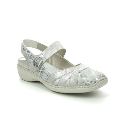 Rieker Mary Jane Shoes - Silver multi - 413V2-90 DORISBARSLI