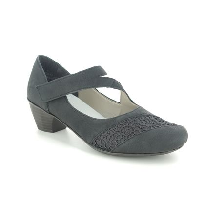 Rieker Mary Jane Shoes - Black - 41742-00 SARMICA
