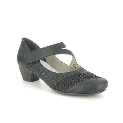 Rieker Mary Jane Shoes - Black - 41743-00 SARMICA 11