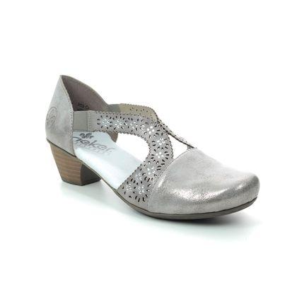 Rieker Court Shoes - Taupe - 41750-40 SARMIDI