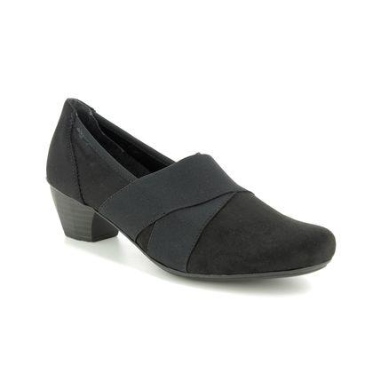 Rieker Comfort Slip On Shoes - Black - 41772-00 MIRJELA