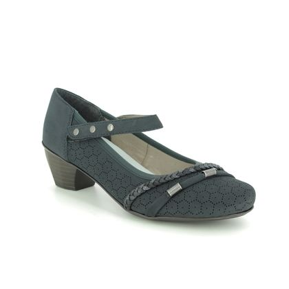 Rieker Mary Jane Shoes - Navy - 41777-14 SARMAGE
