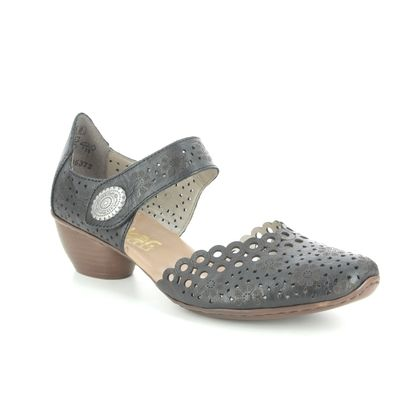 Rieker Comfort Slip On Shoes - Black leather - 53753-00 MIRCIRCLE
