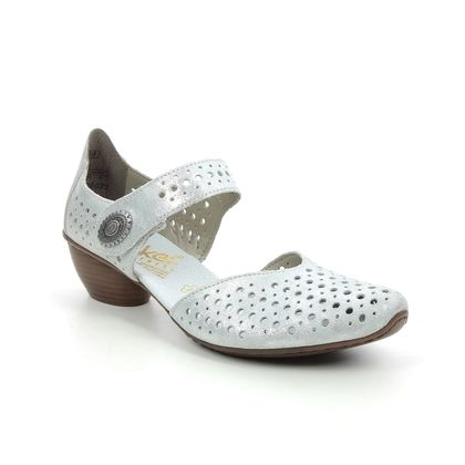 Rieker Comfort Slip On Shoes - Silver - 43766-90 MIRPERTO
