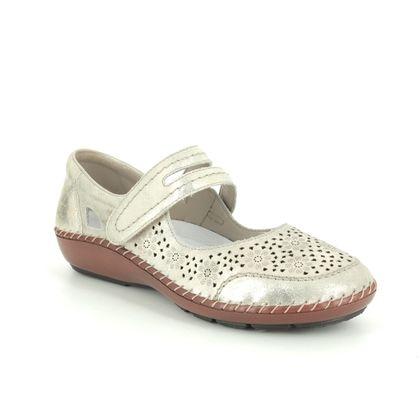 Rieker Comfort Slip On Shoes - Gold - 44875-62 CINDERS