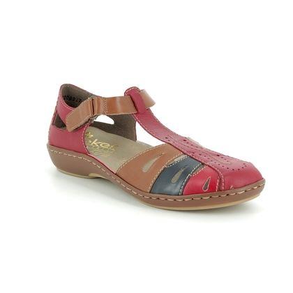 Rieker Closed Toe Sandals - Red multi - 45867-33 MAISMIX