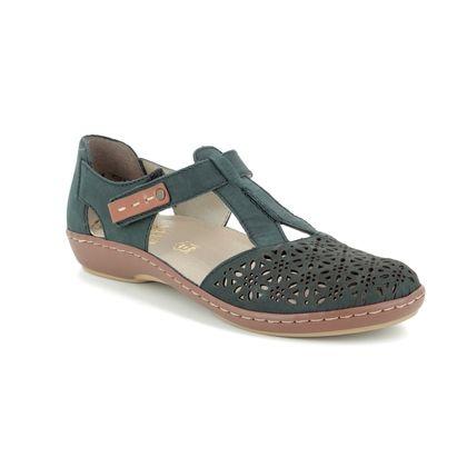 Rieker Closed Toe Sandals - Navy - 45880-14 MAISING