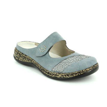 Rieker Slippers & Mules - Denim blue - 46303-12 LINO   71