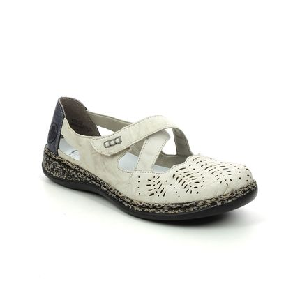 Rieker Mary Jane Shoes - Off white multi - 46375-60 DAISERE