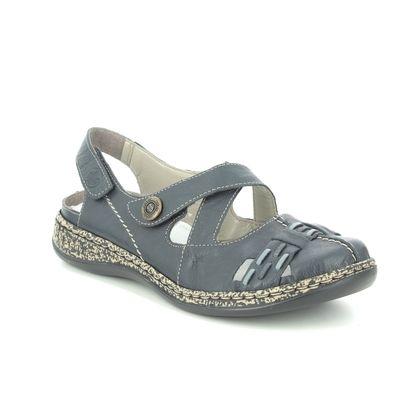Rieker Closed Toe Sandals - Navy - 46377-14 DAISLIX
