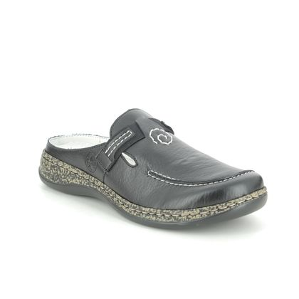 Rieker Slippers & Mules - Black - 46393-00 LINODAIS