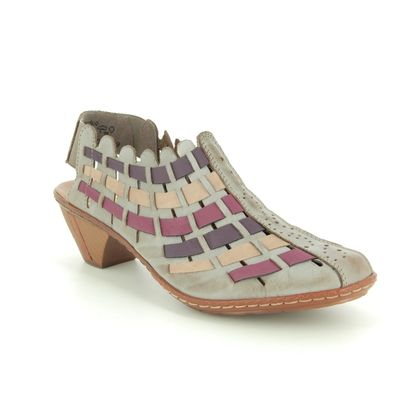 Rieker Comfort Slip On Shoes - Taupe multi - 46778-62 SINA