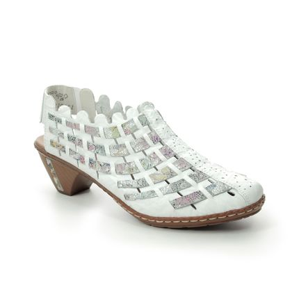 Rieker Comfort Slip On Shoes - White - 46778-80 SINA