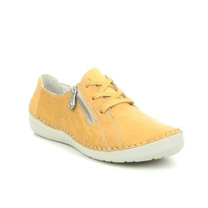 Rieker Comfort Lacing Shoes - Yellow - 52511-68 FUNZIP