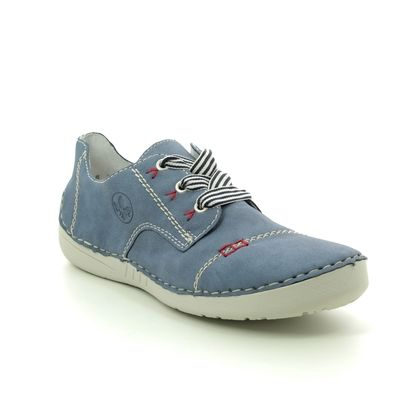 Rieker Comfort Lacing Shoes - Blue - 52520-14 FUNZI