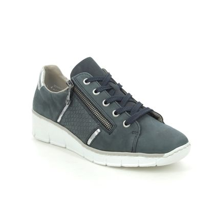 Rieker Trainers - Navy Leather - 53711-14 BOCCILACO