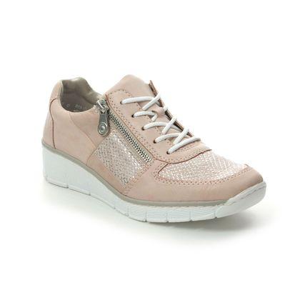 Rieker Comfort Lacing Shoes - Rose pink - 53714-31 BOCCILA