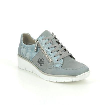 Rieker Comfort Lacing Shoes - Navy - 53716-12 BOCCILAT