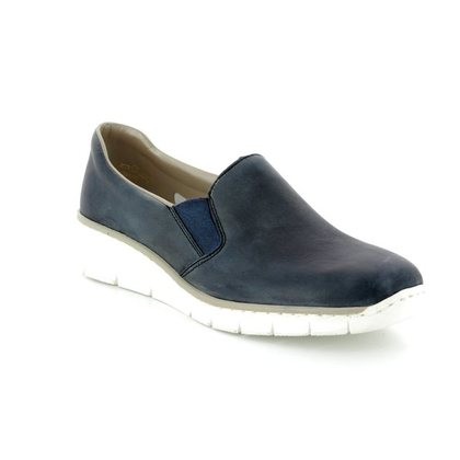 Rieker Comfort Slip On Shoes - Blue - 53766-12 BOCCIAGO