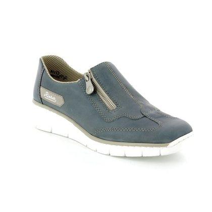 Rieker Comfort Slip On Shoes - Blue - 53773-12 BOCCIZIP