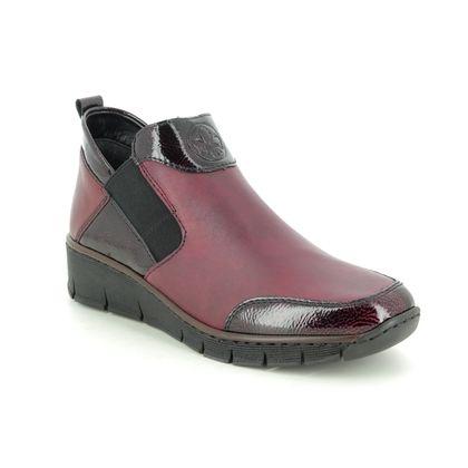 Rieker Ankle Boots - Wine leather - 53786-35 BOCCIBOSET