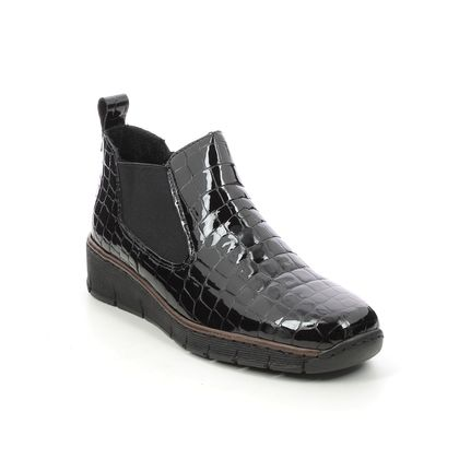Rieker Chelsea Boots - Black croc - 53794-01 BOCCIBOCK