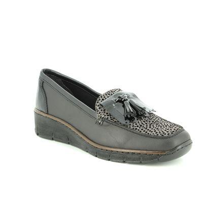 Rieker Comfort Slip On Shoes - Black - 537B6-00 BOCCITAS