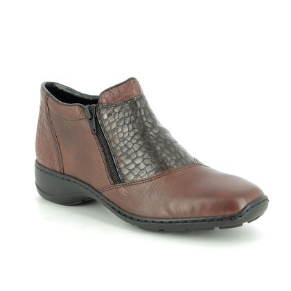 Rieker Ankle Boots - Brown leather - 58359-25 DORBOSO