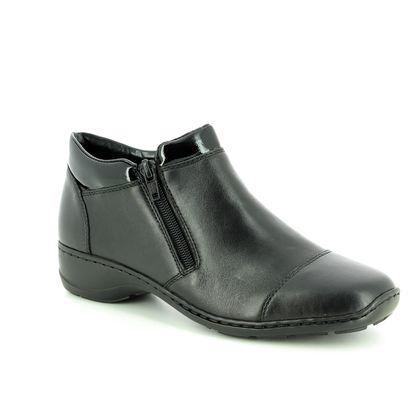 Rieker Fashion Ankle Boots - Black patent - 58374-00 DORBOCAP