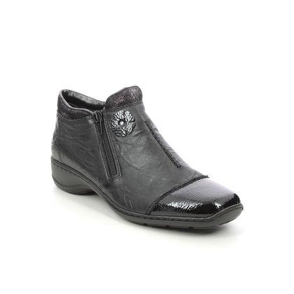 Rieker Ankle Boots - Black patent - 58388-00 DORBOFLOSS