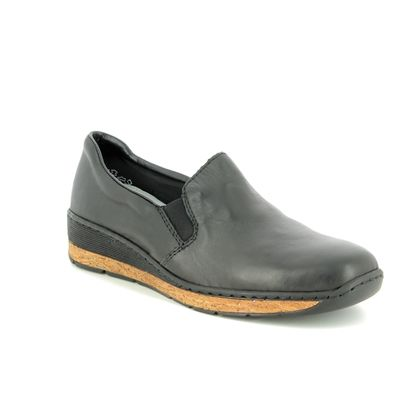 Rieker Comfort Slip On Shoes - Black - 59766-00 LUCCOR