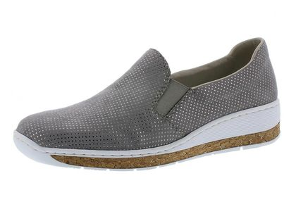 Rieker Comfort Slip On Shoes - Taupe - 59766-42 LUCCOR