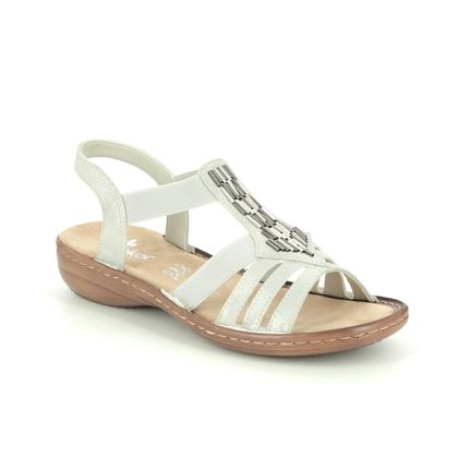 Rieker Comfortable Sandals - Light Grey - 60800-40 REGICHIME