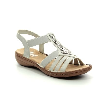 Rieker Comfortable Sandals - Off White - 60800-80 REGICHIME