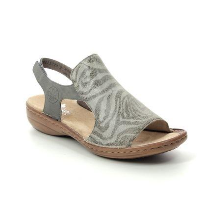 Rieker Comfortable Sandals - Zebra print - 60840-42 REGIKO