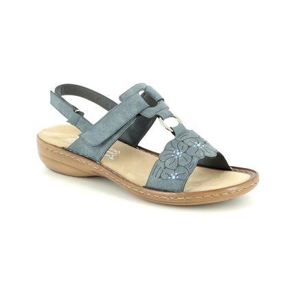 Rieker Comfortable Sandals - Denim blue - 60843-14 REGIFLO