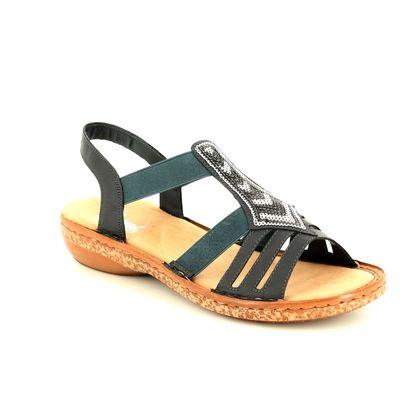 Rieker Comfortable Sandals - Navy - 62821-14 REGIVES