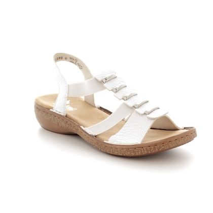 Rieker Comfortable Sandals - White - 62850-80 REGING