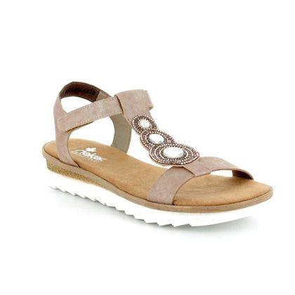 Rieker Comfortable Sandals - Rose pink - 63184-62 TIDE