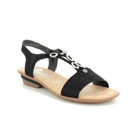 Rieker Comfortable Sandals - Black - 63453-00 YOKO