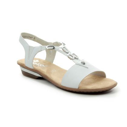Rieker Comfortable Sandals - White - 63453-80 YOKO