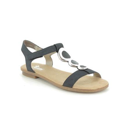 Rieker Flat Sandals - Navy - 64265-14 YORE